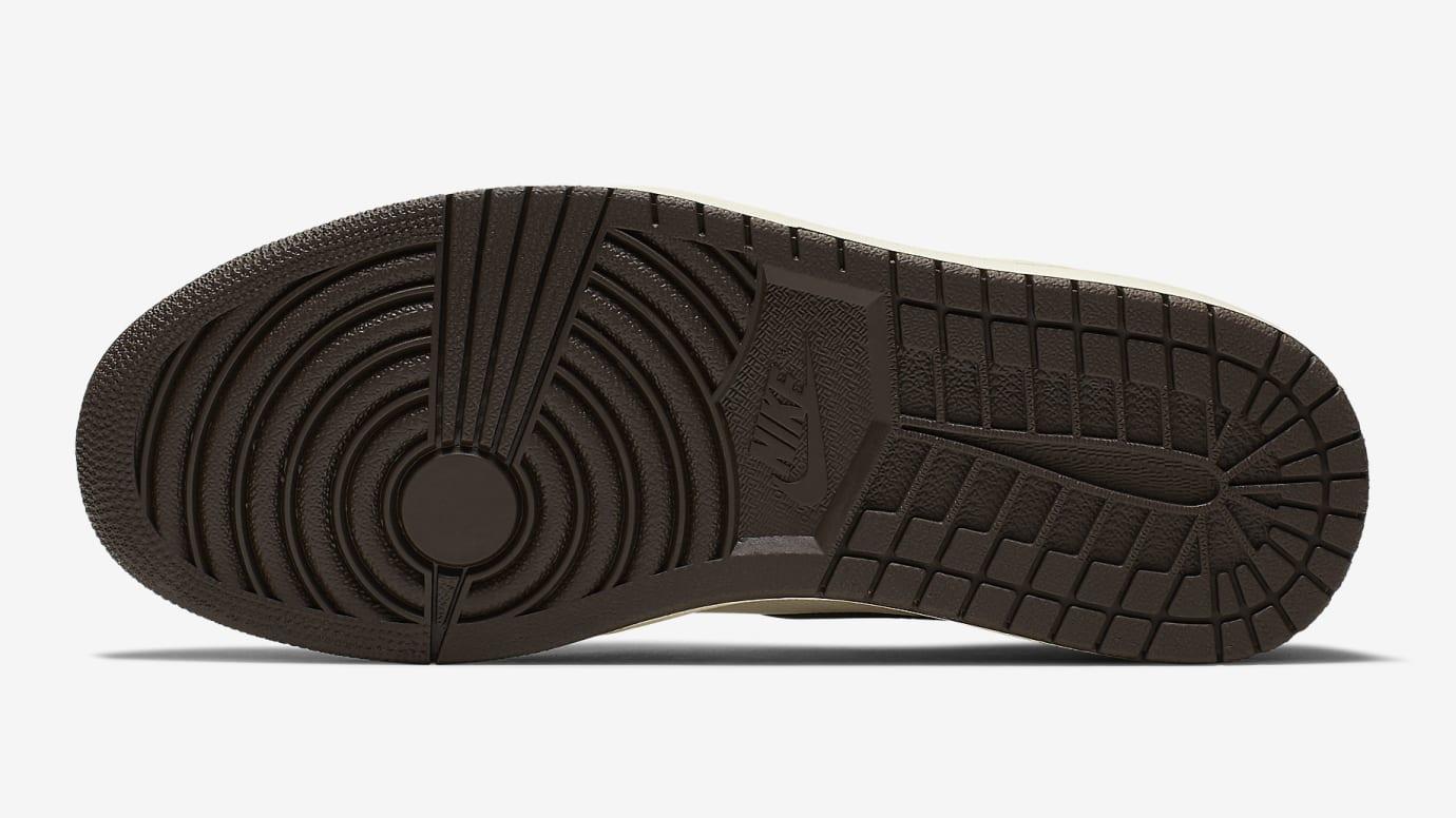 d0596973 Image via Nike Travis Scott x Air Jordan 1 Brown Release Date CD4487-100  Sole