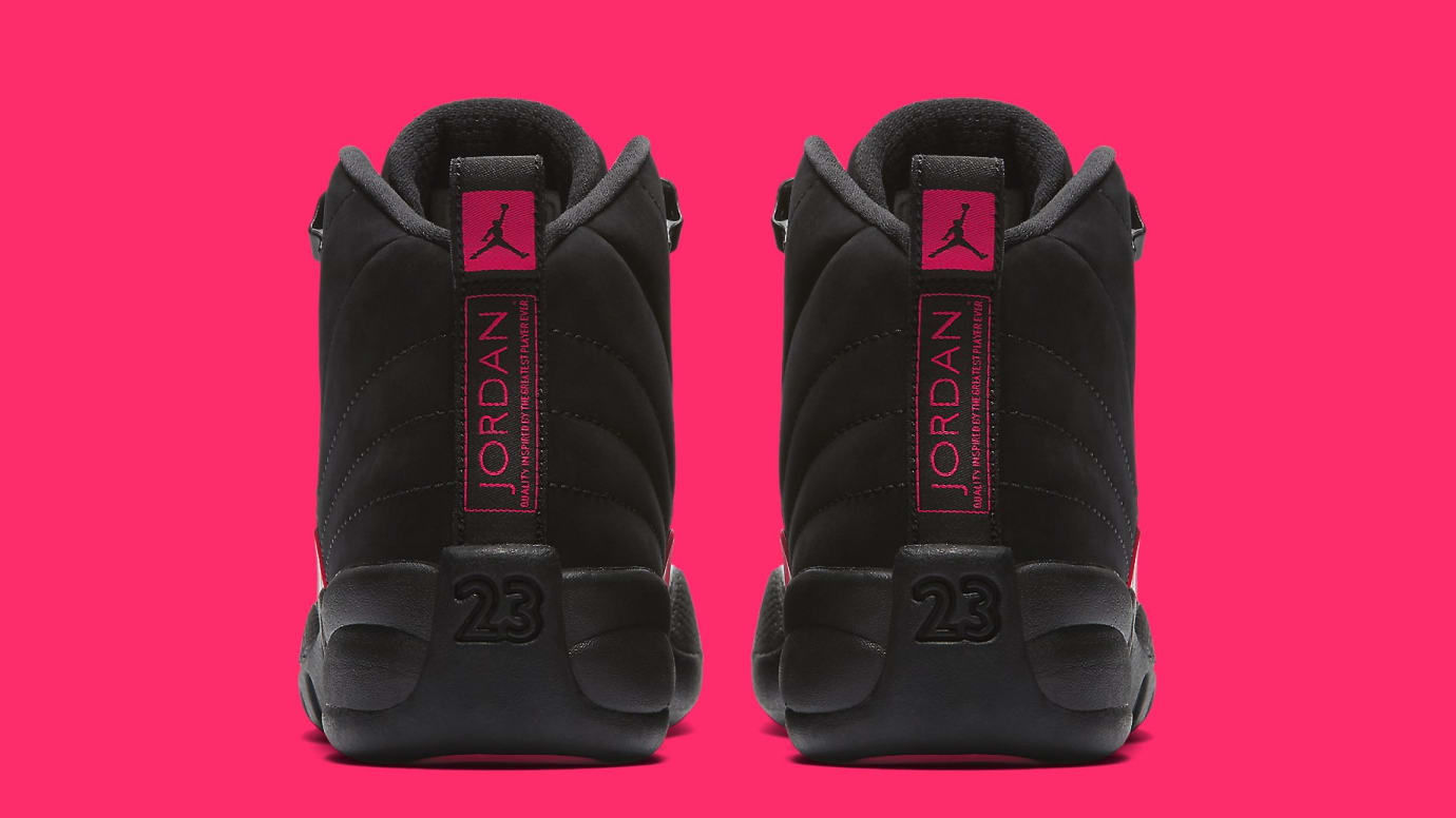 400d7131278d Air Jordan 12 Retro GG  Black Dark Grey-Rush Pink  510815-006 ...