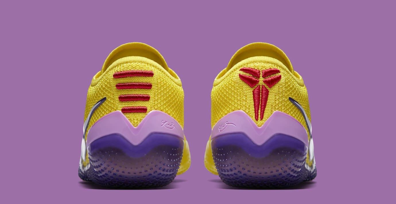 0c16747fe832 Image via Nike Nike Kobe AD NXT 360  Yellow Strike White  AQ1087-100 (Heel