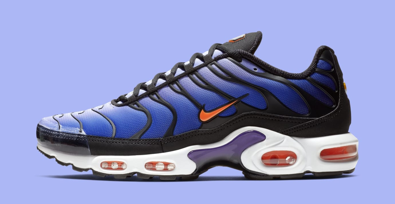 Nike Air Max Plus 'Black/Total Orange-Voltage Purple' BQ4629-002 (Lateral)