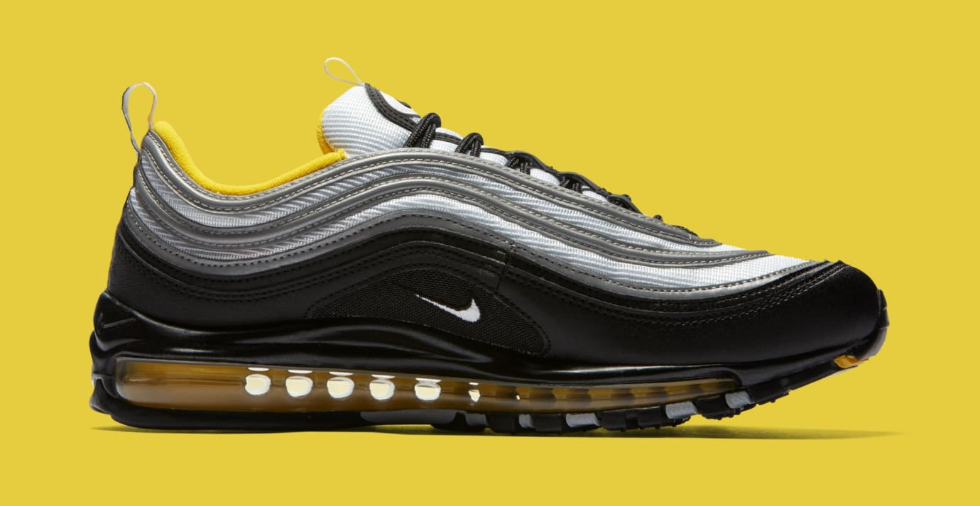 finest selection 03dc2 92177 Image via Nike Nike Air Max 97 BlackWhiteAmarillo 921826-008 (Medial)