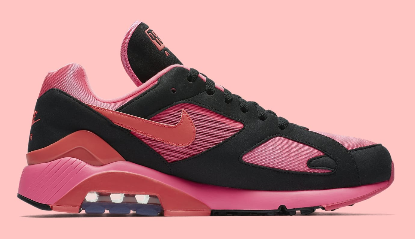 Comme des Garçons x Nike Air Max 180 'Black' AO4641-601 (Medial)