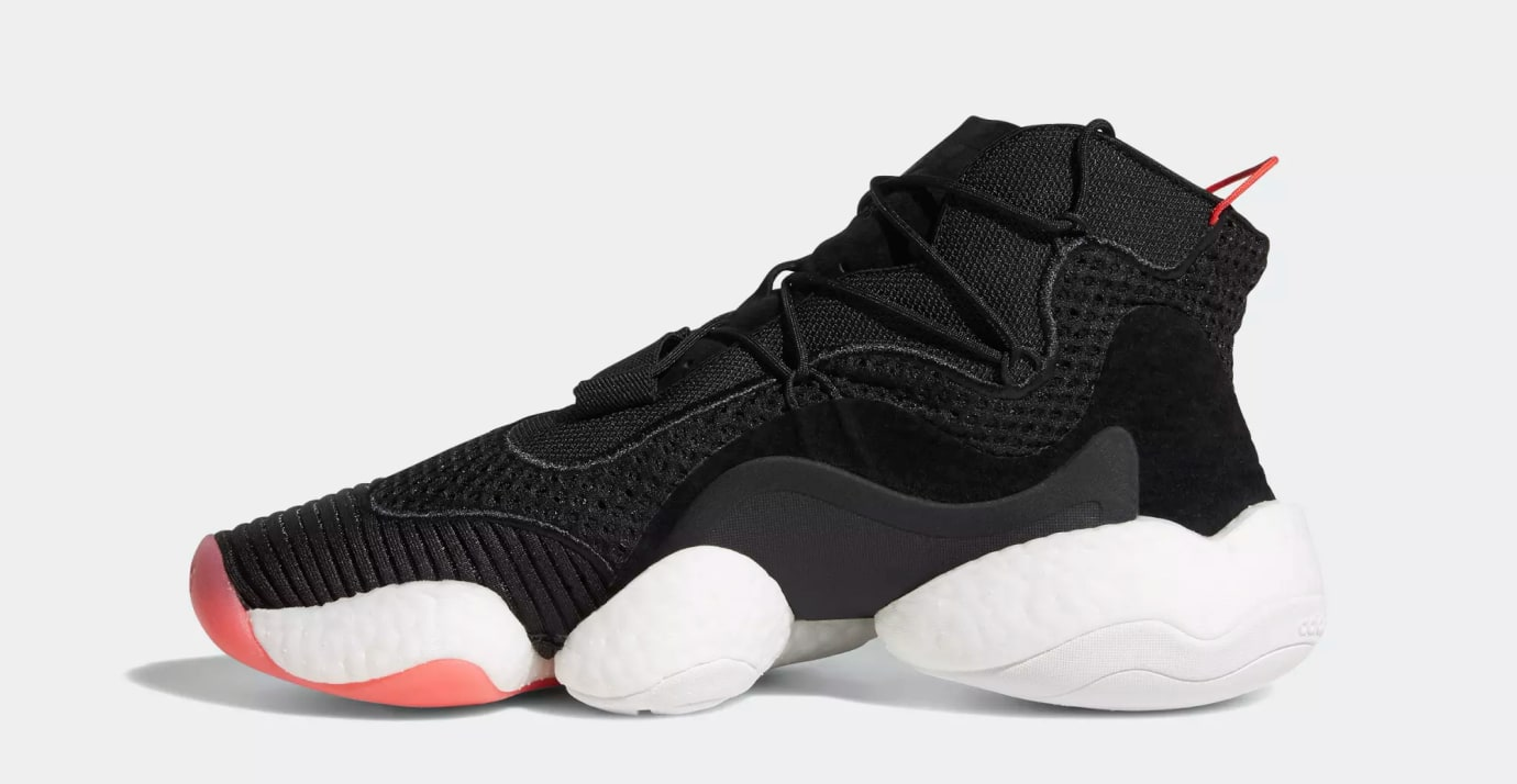Adidas Crazy BYW 'Core Black/Cloud White/Bright Red' B37480 (Medial)