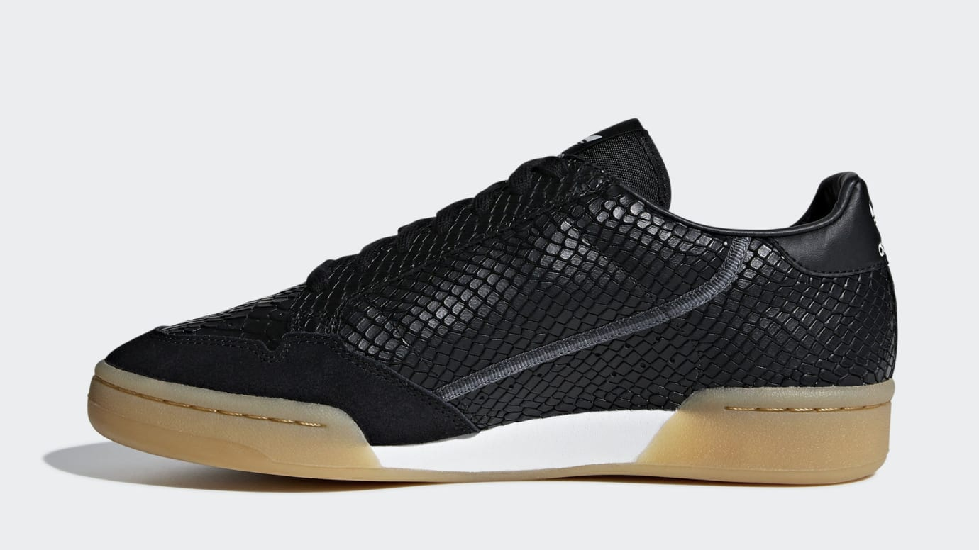 classic fit 2be85 e74c4 Image via Adidas adidas-continental-80-snakeskin-b41678-medial