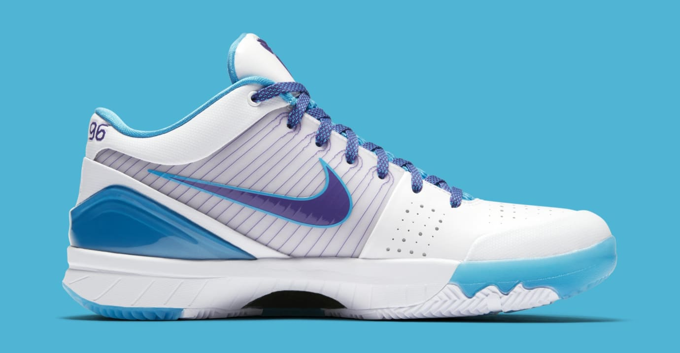 brand new 3e257 1fb92 Image via Nike Nike Kobe 4 Protro WhiteOrion Blue-Varsity Purple  AV6339-100