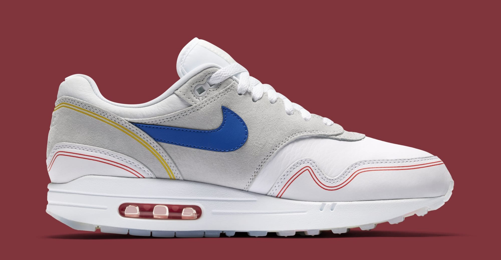 on sale 8feab f5400 Nike Air Max 1  Centre Pompidou  Pure Platinum AV3735-002 (Medial)