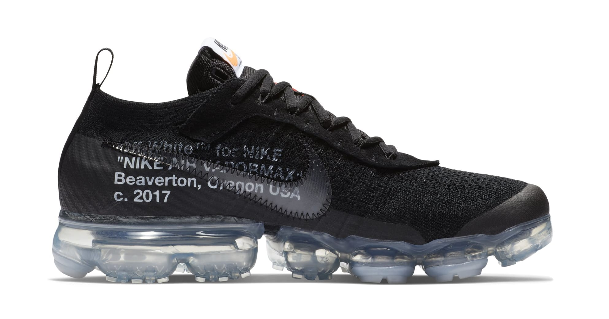 Off-White x Nike Air VaporMax 'Black' AA3831-002 (Medial)