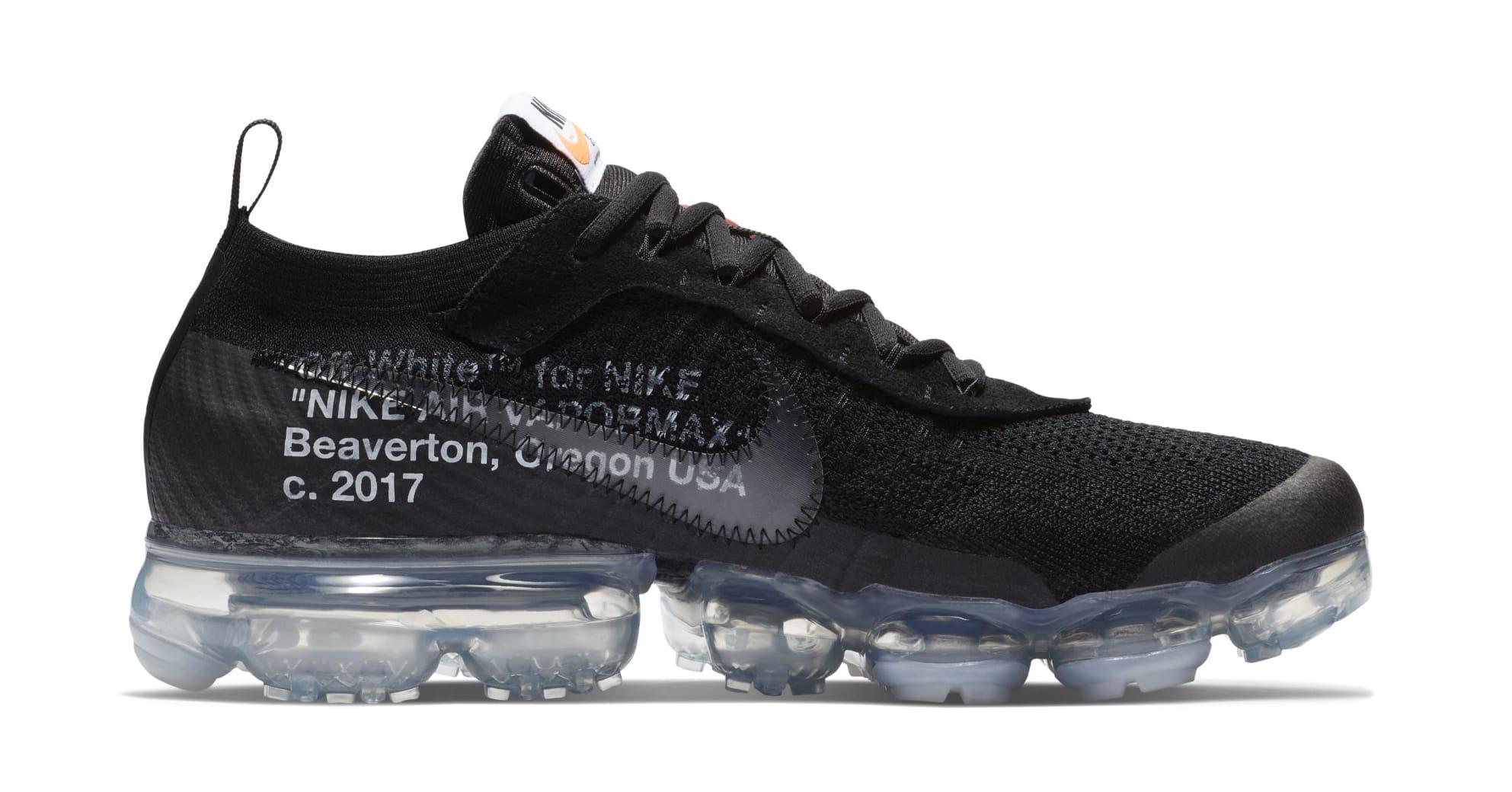 Off-White x Nike Air VaporMax 'Black' AA3831-002 (Medial)