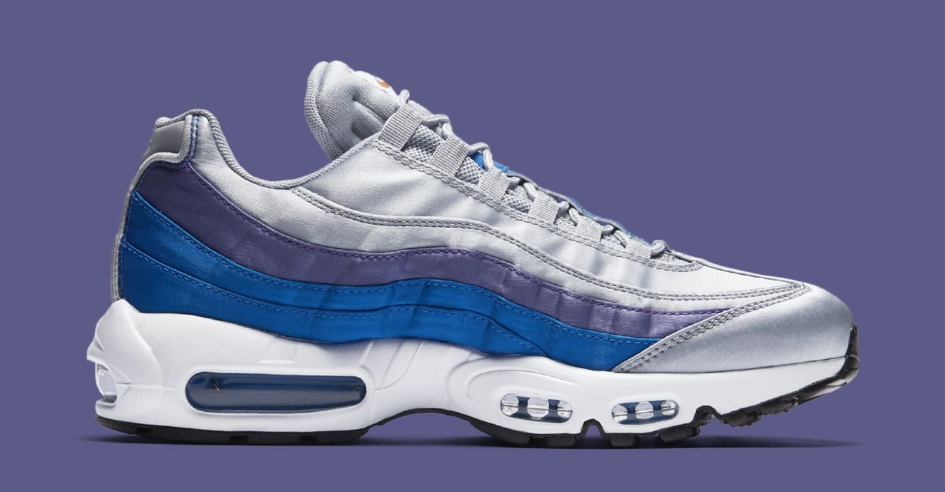 for whole family get new good service Nike Air Max 95 'Wolf Grey/Blue Nebula-Purple Slate-White ...