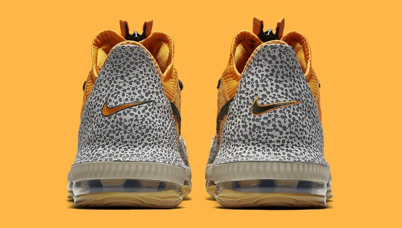 online store a5570 712f1 Image via Nike Nike LeBron 16 Low  Safari  CI3358-800 Heel