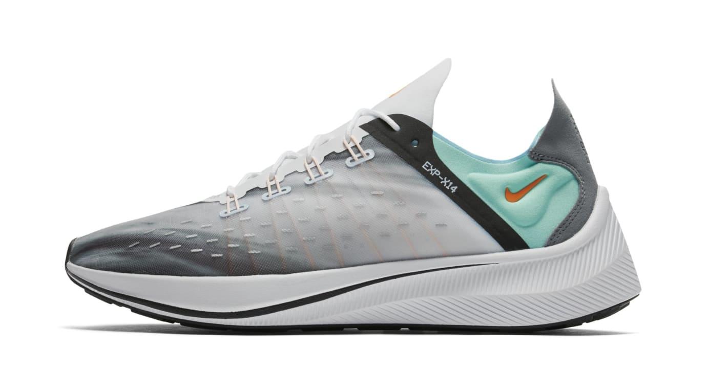 Nike EXP-X14 QS 'White/Emerald Rise/Cone/Blue Chill' BQ6972-100 (Lateral)