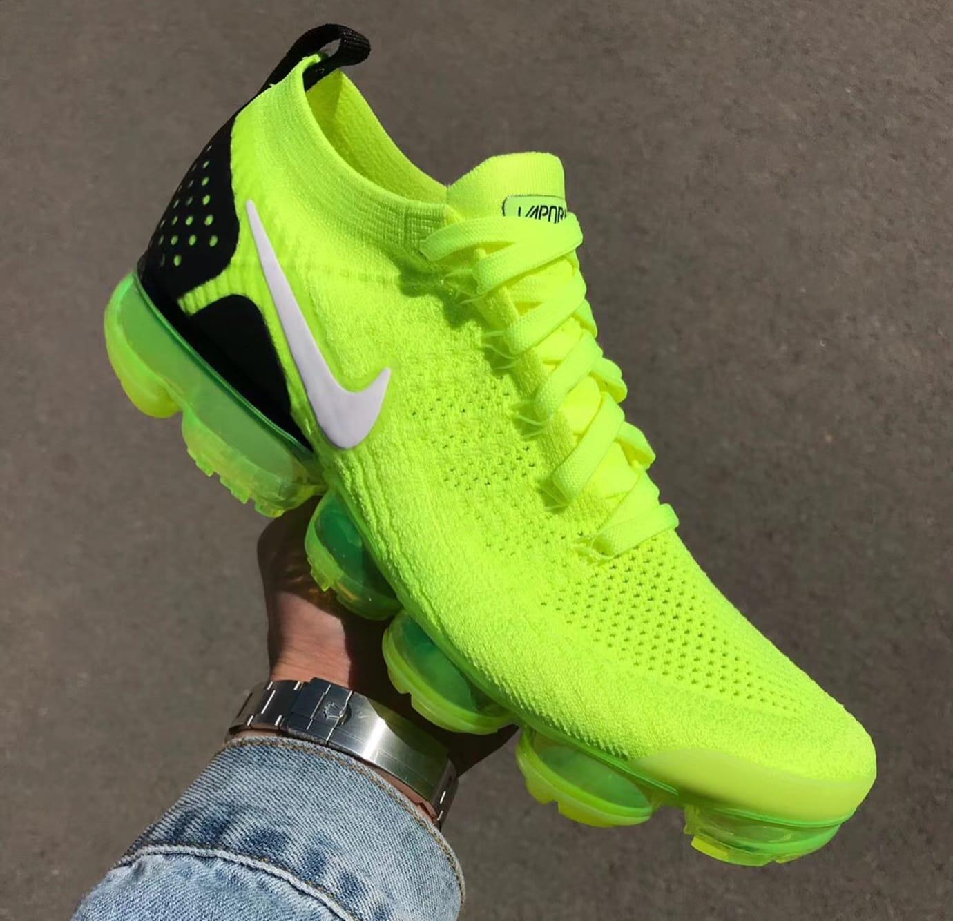 Nike Air VaporMax 2 Flyknit Volt Release Date 942842-700 (3)
