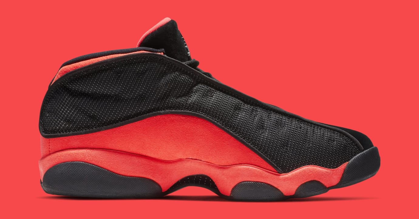 d87999d178a Image via Nike Clot x Air Jordan 13 Low 'Black/Infrared' AT3102-006 (Medial