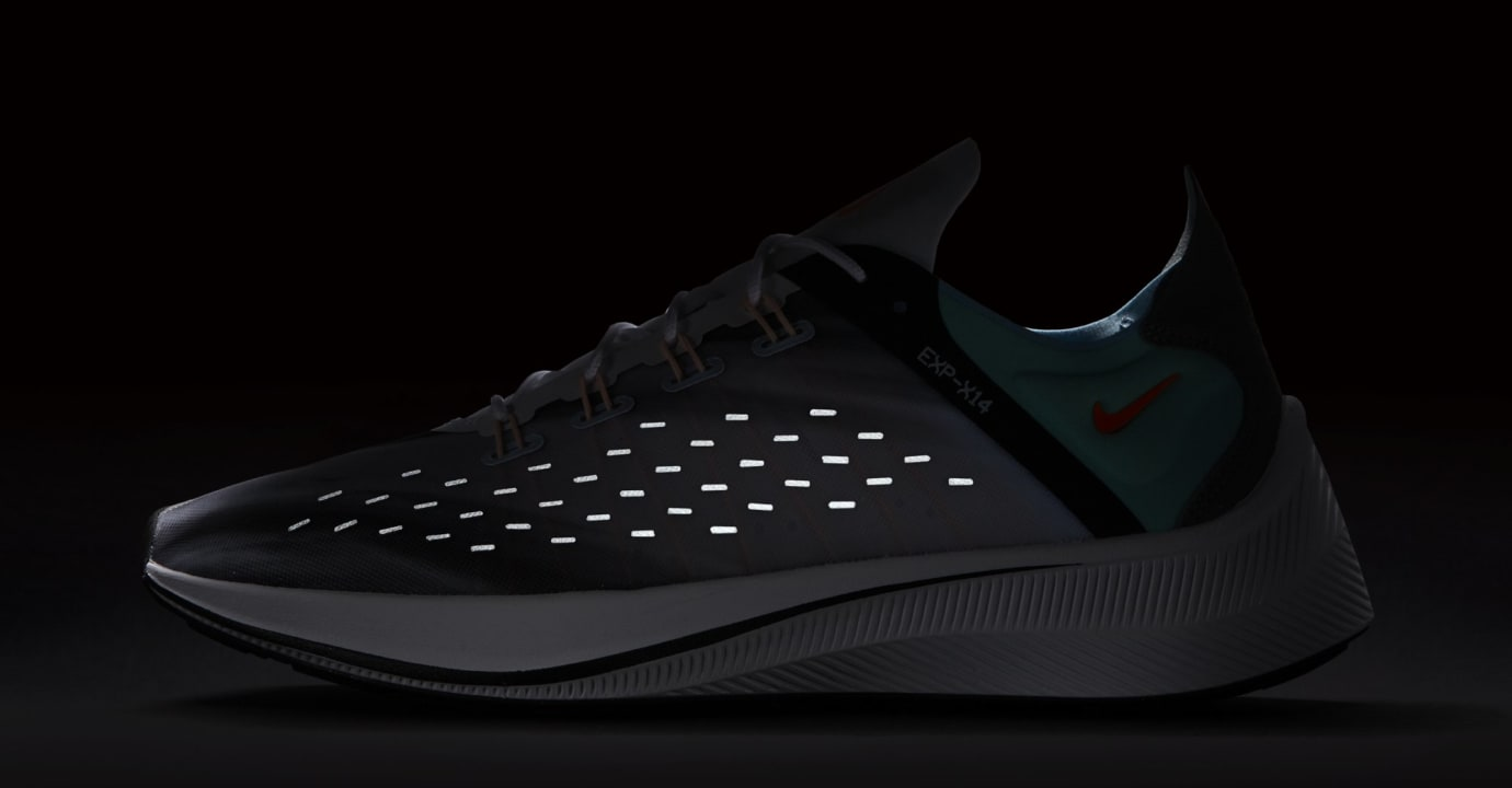 Nike EXP-X14 QS 'White/Emerald Rise/Cone/Blue Chill' BQ6972-100 (Reflective)
