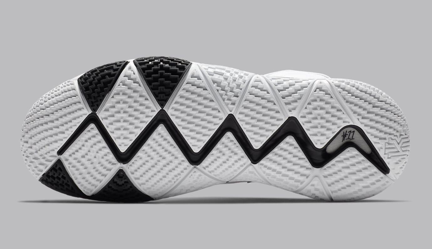 Nike Kyrie 4 White Black Release Date AV2296-100 Sole