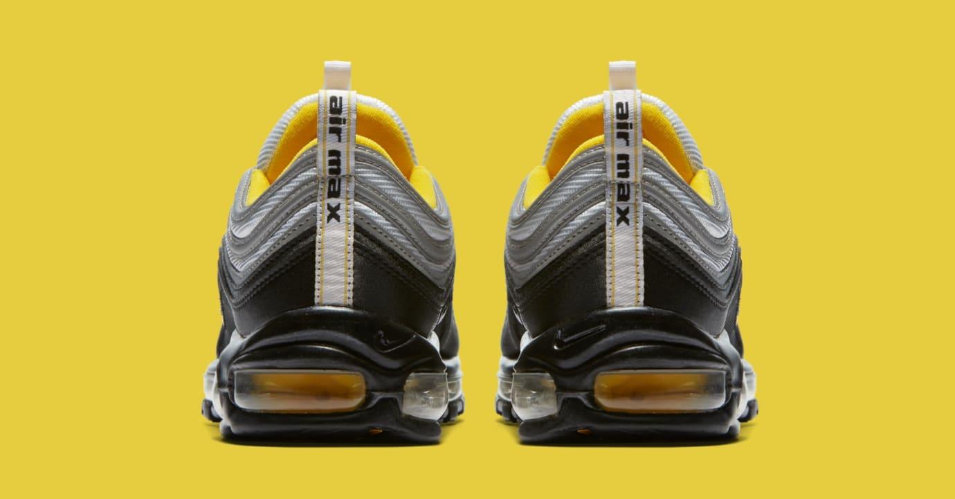 Nike Air Max 97 Black/White/Amarillo 921826-008 (Heel)