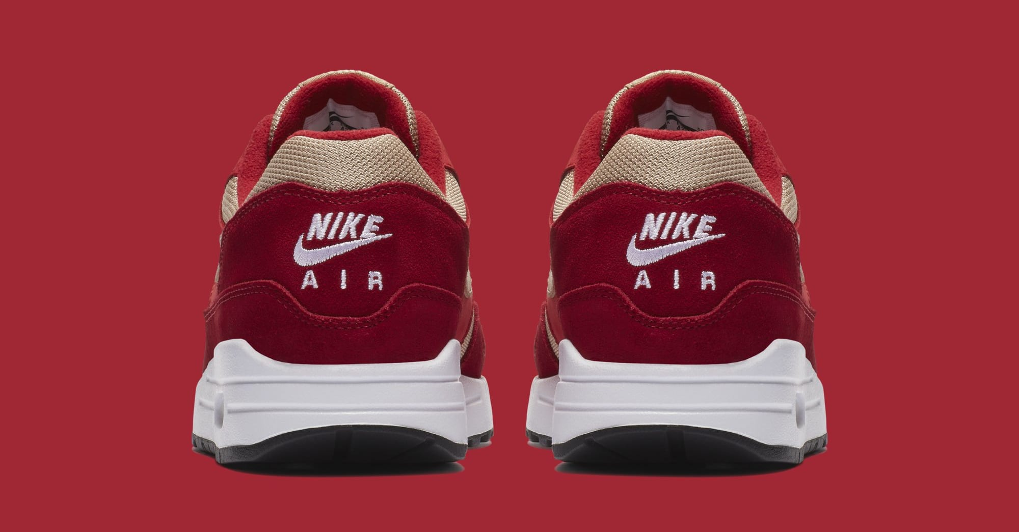 Atmos x Nike Air Max 1 'Red Curry' 908366-600 (Heel)