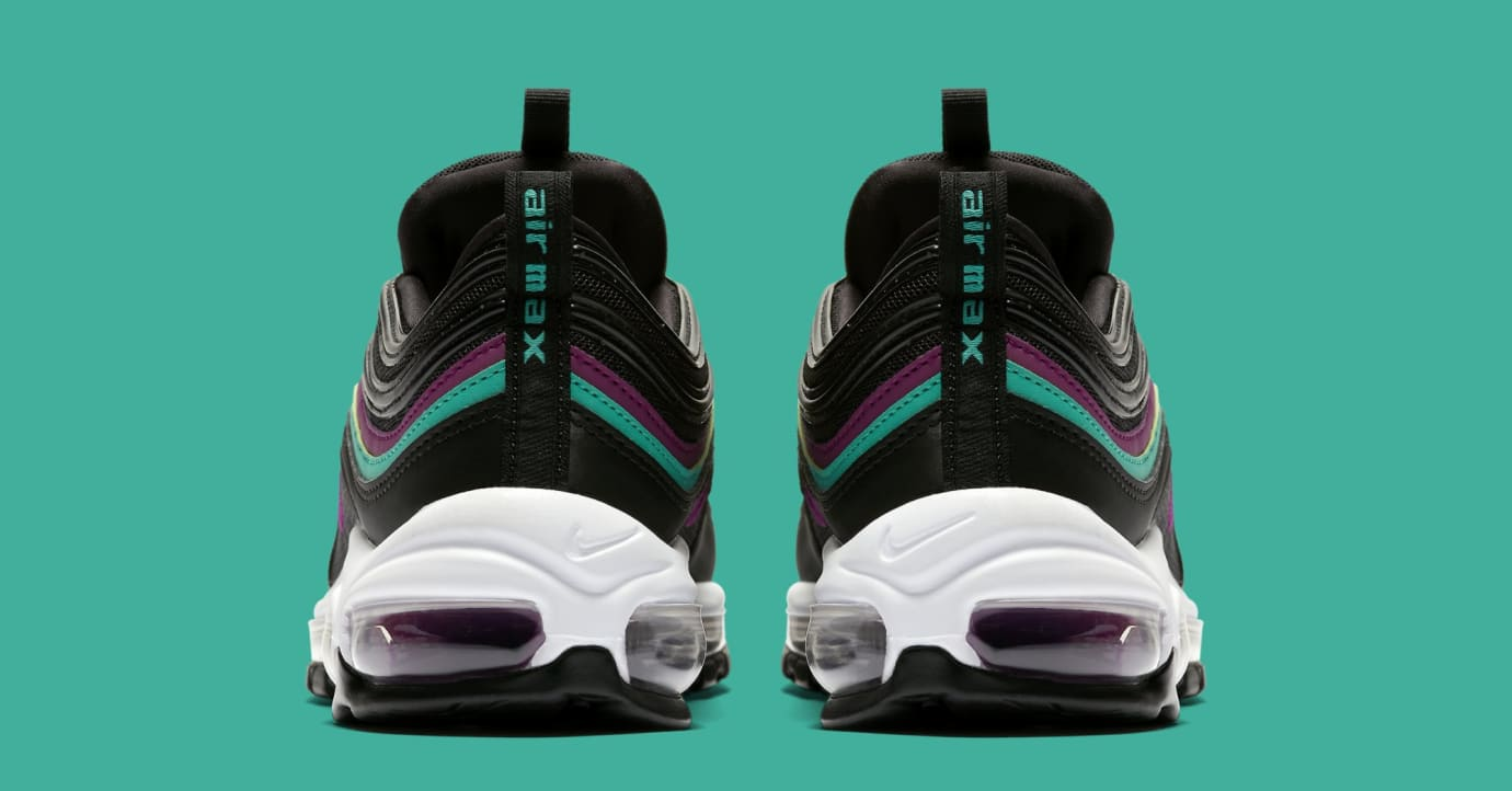 Nike Air Max 97 WMNS 'Black/Bright Grape/Clear Emerald' 921733-008 (Heel)