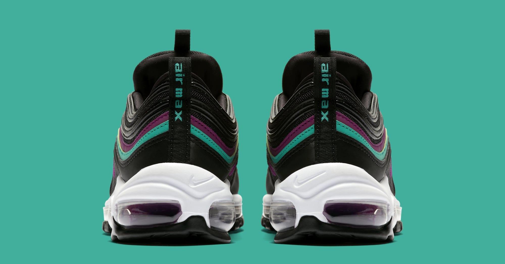 Nike Air Max 97 WMNS 'Black/Bright Grape/Clear Emerald' 921733-008 (Heel)