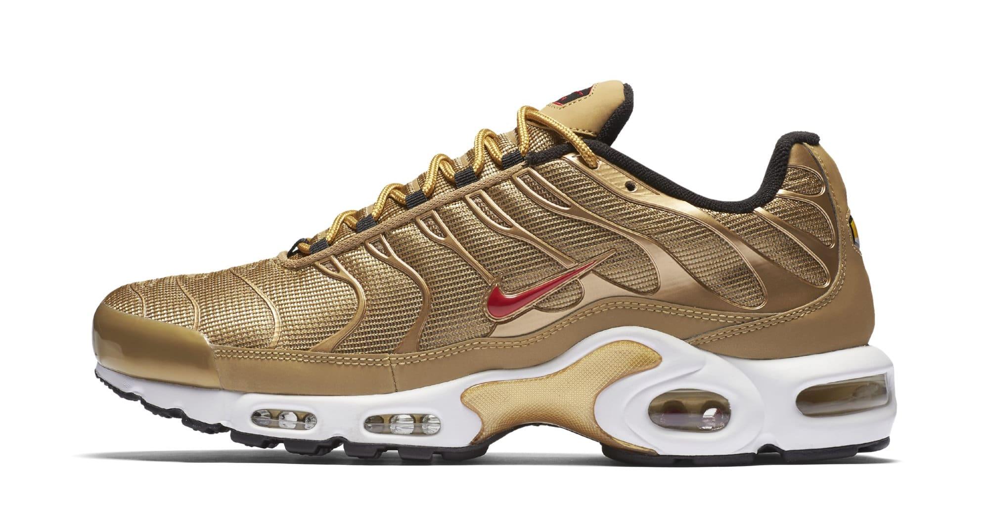 Nike Air Max Plus 'Metallic Gold' 903827-700 (Lateral)