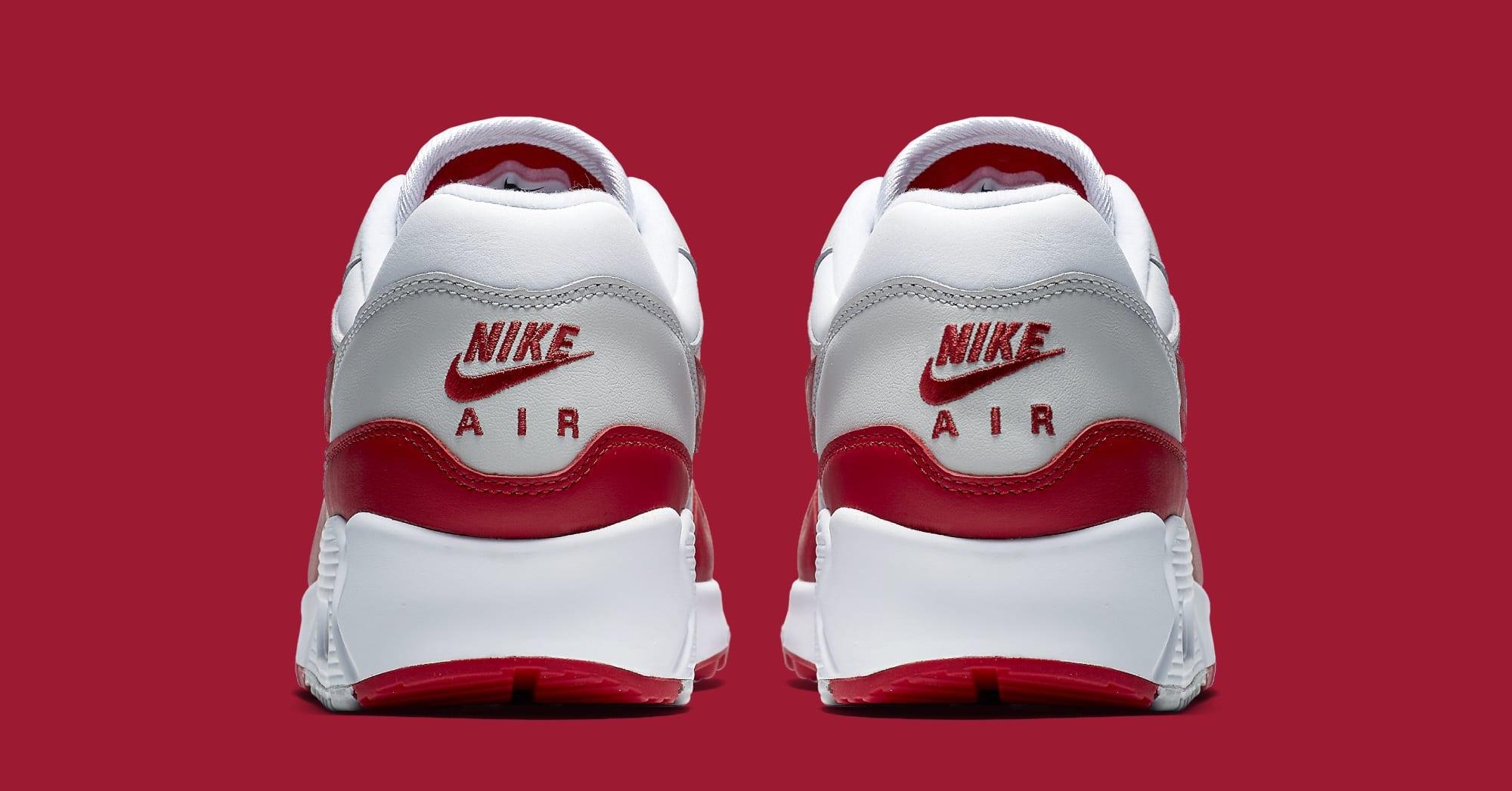 Nike Air Max 90/1 'White/Red' AJ7695-100 (Heel)