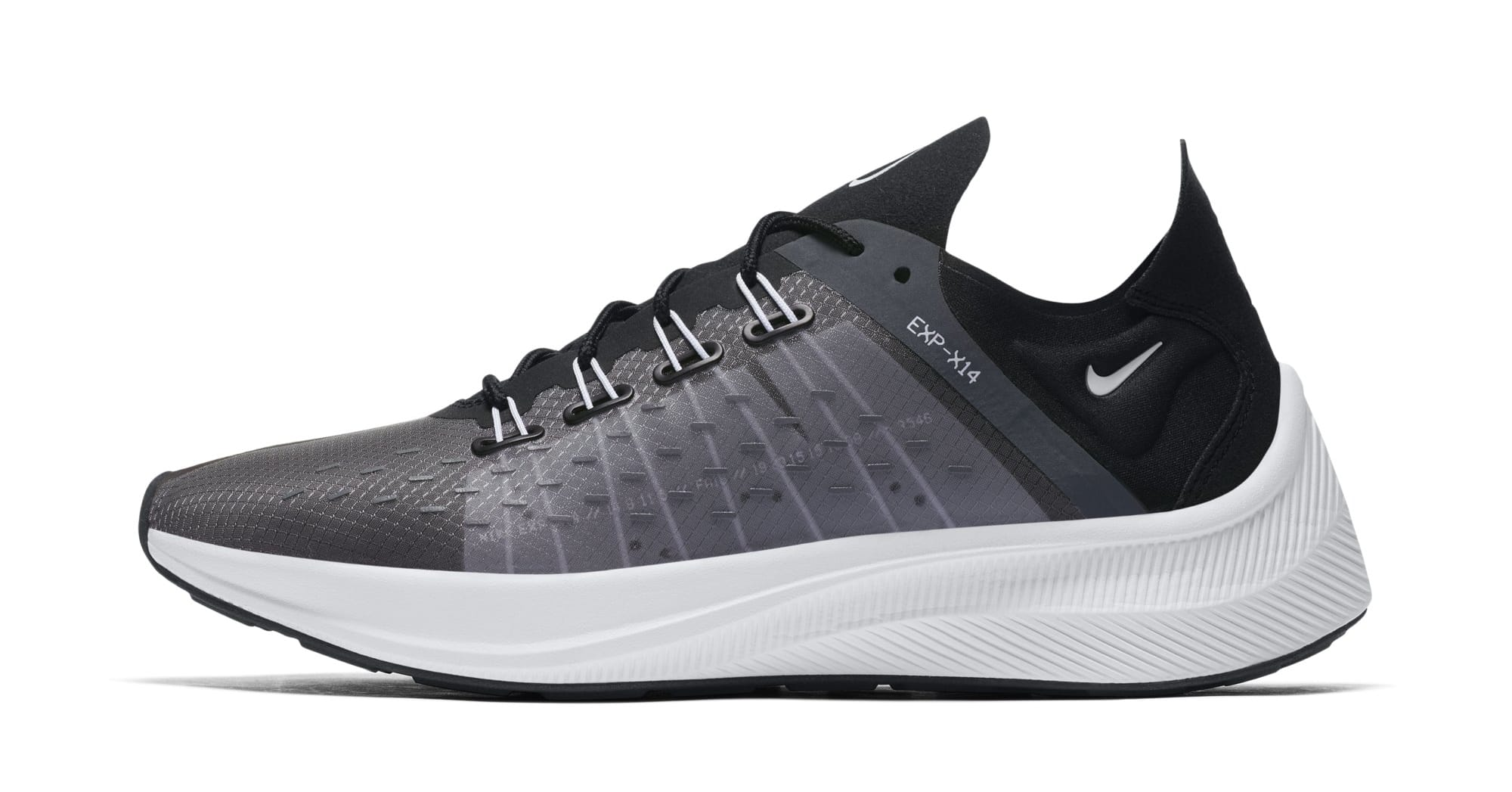 Nike WMNS EXP-X14 'Black/White/Wolf Grey' AO3170-001 (Lateral)
