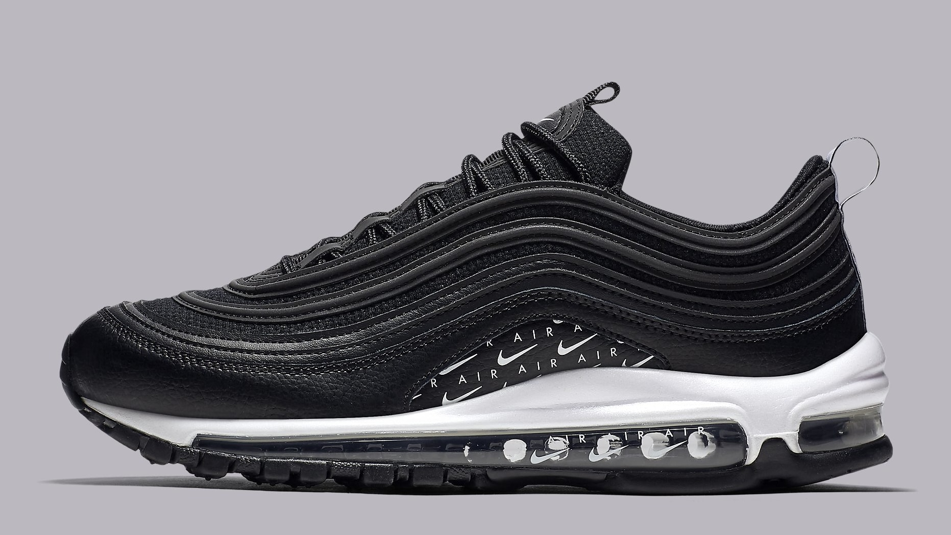 747ca8136fef1 ... coupon code nike air max 97 black white ar7621 001 lateral e007b be002