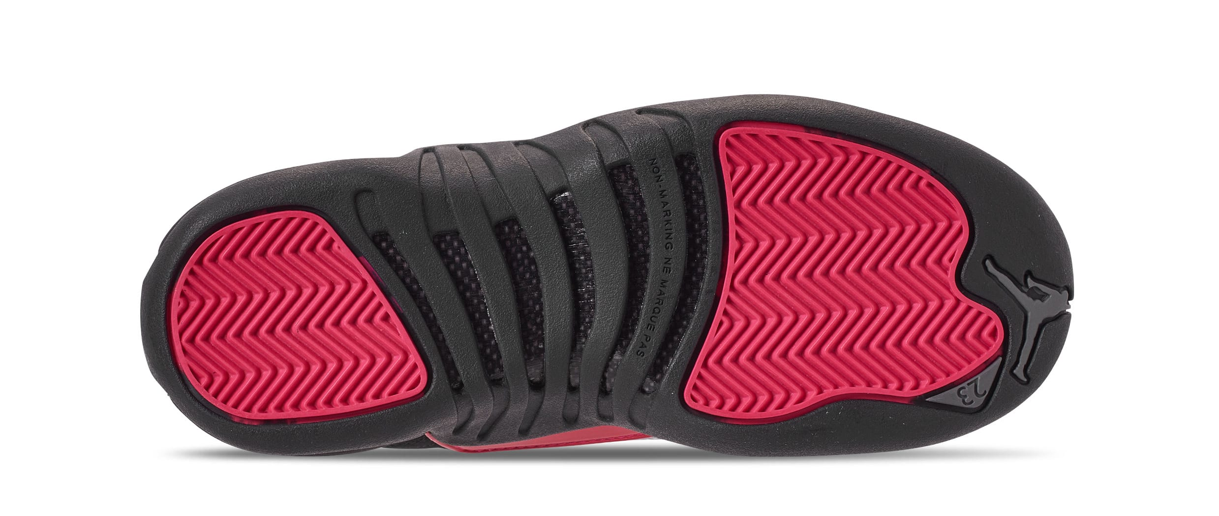 4be2be82b1e Image via Finish Line Air Jordan 12 Retro GG  Black Dark Grey Rush Pink   510815-