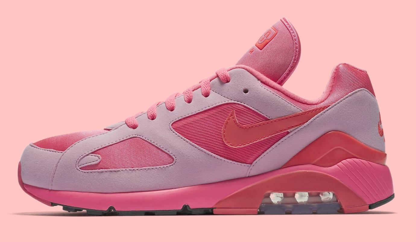 Comme des Garçons x Nike Air Max 180 'Pink' AO4641-602 (Lateral)