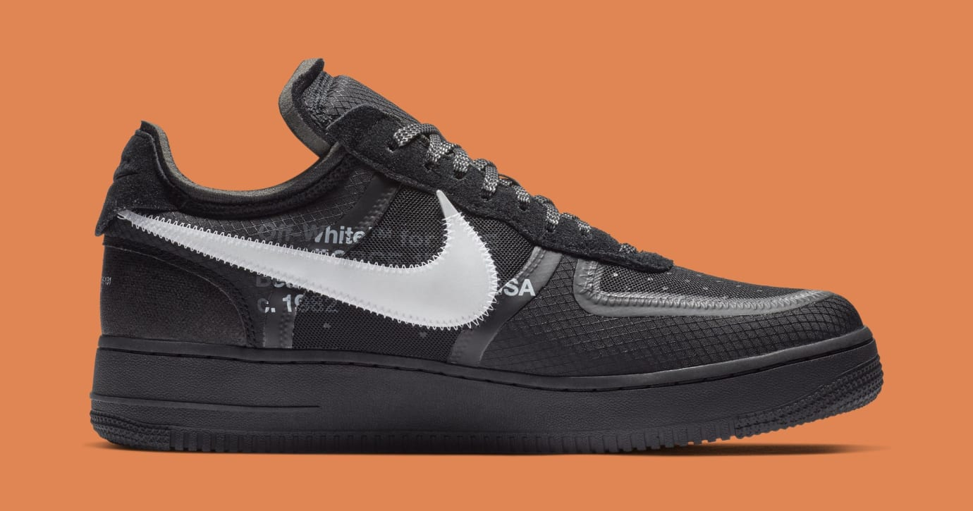 Off-White x Nike Air Force 1 Low 'Black/White' AO4606-001 (Medial)