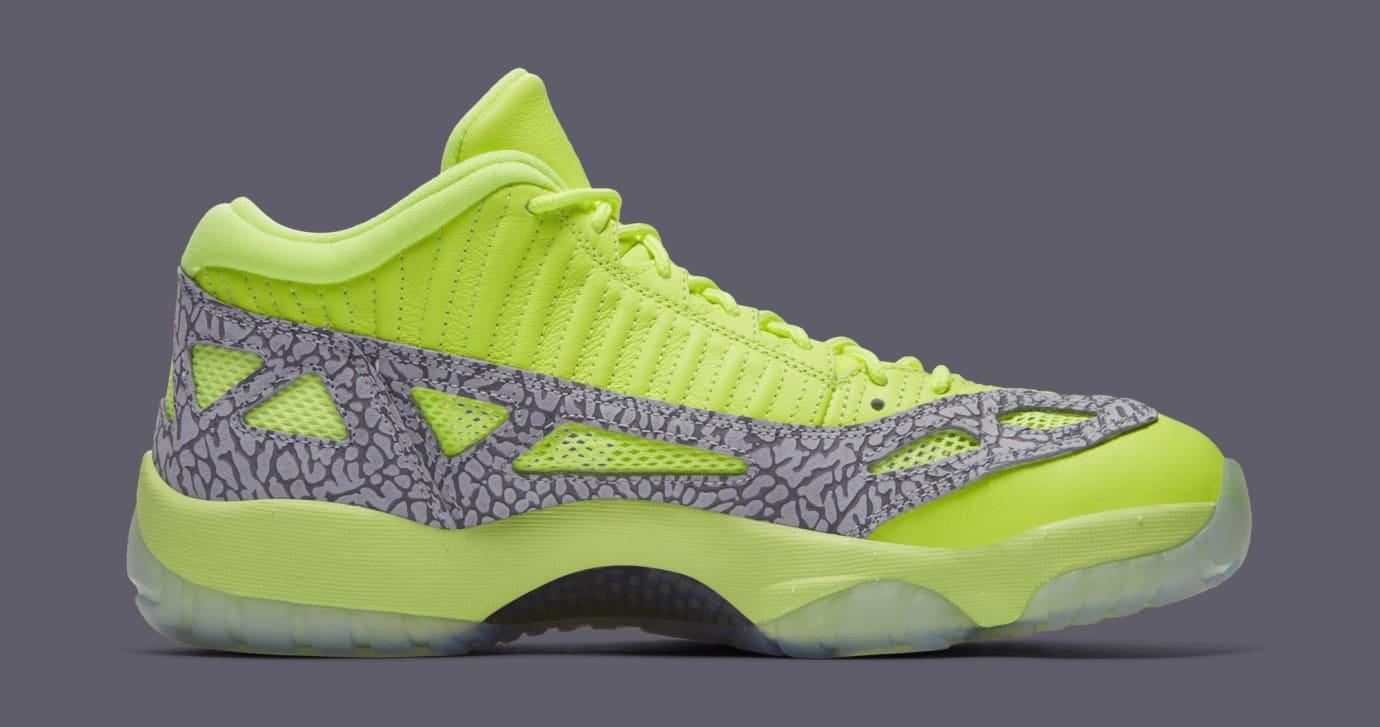 Image via Nike Air Jordan 11 Low IE  Volt  919712-700 (Medial) c0092d40d