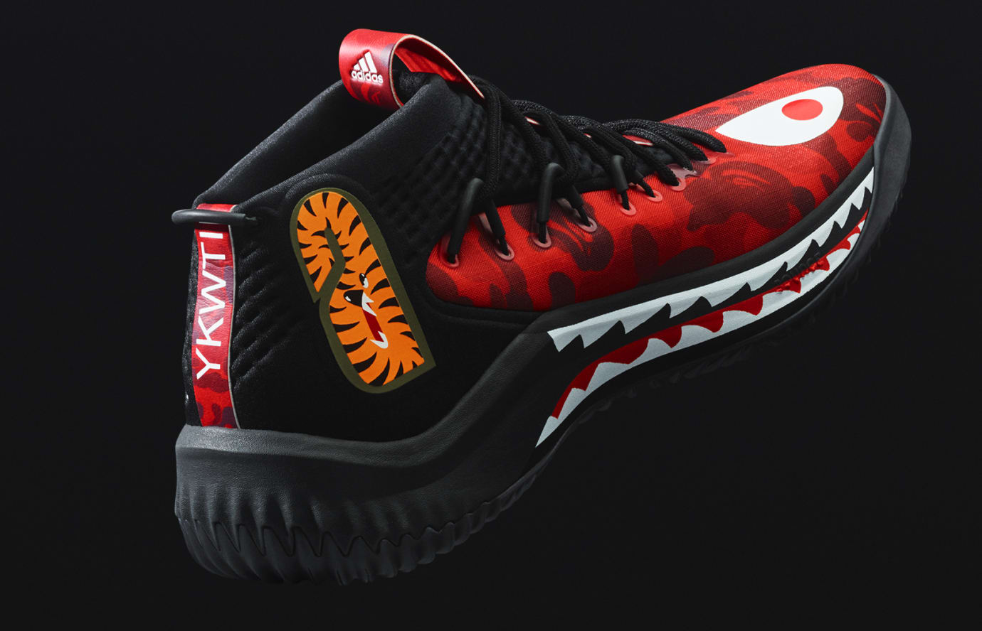 buy popular 26839 b8fc0 Image via Adidas adidas-dame-4-bape-red