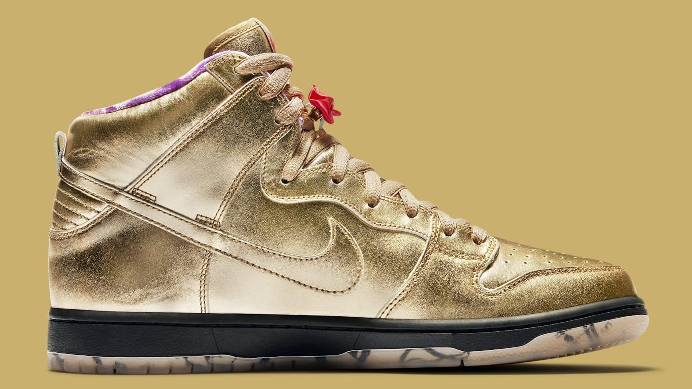 Humidity x Nike SB Dunk High Trumpet Tricentennial Release Date AV4168-776 Medial
