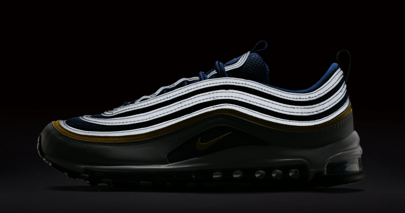 Nike Air Max 97 'Wolf Grey/Tour Yellow/Gym Blue' 921826-006 (Reflective)