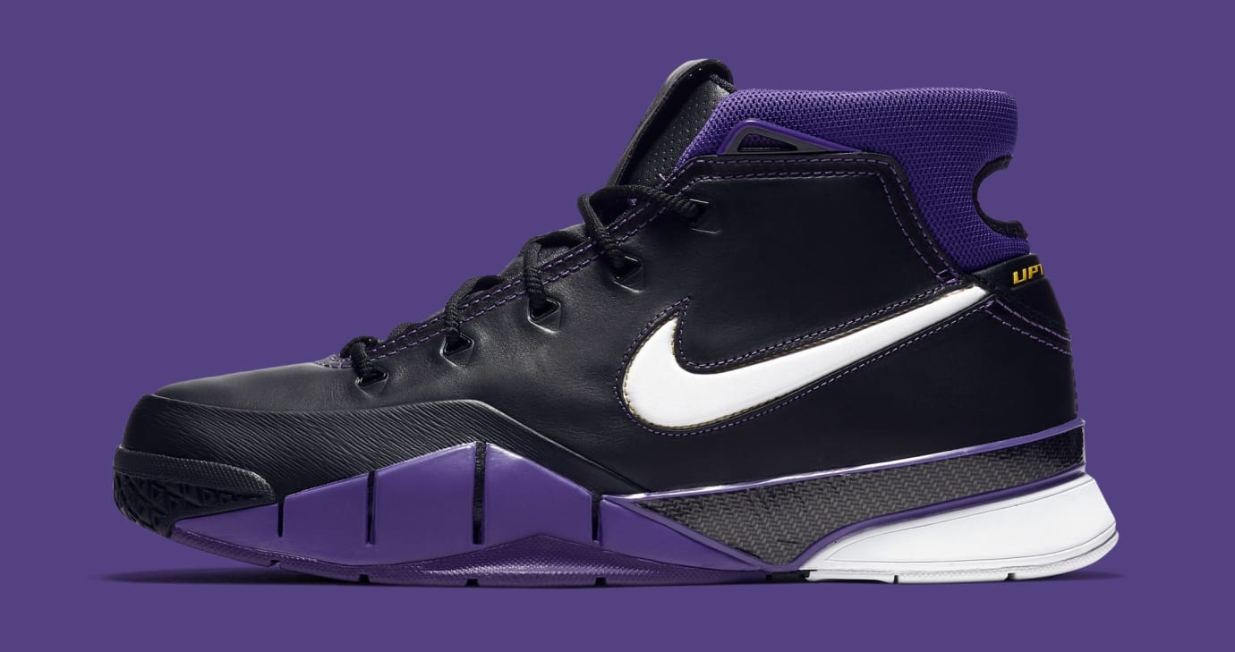 cbacef4b6346 Nike Kobe 1 Protro  Black White Varsity Purple Canyon Gold  AQ2728 ...