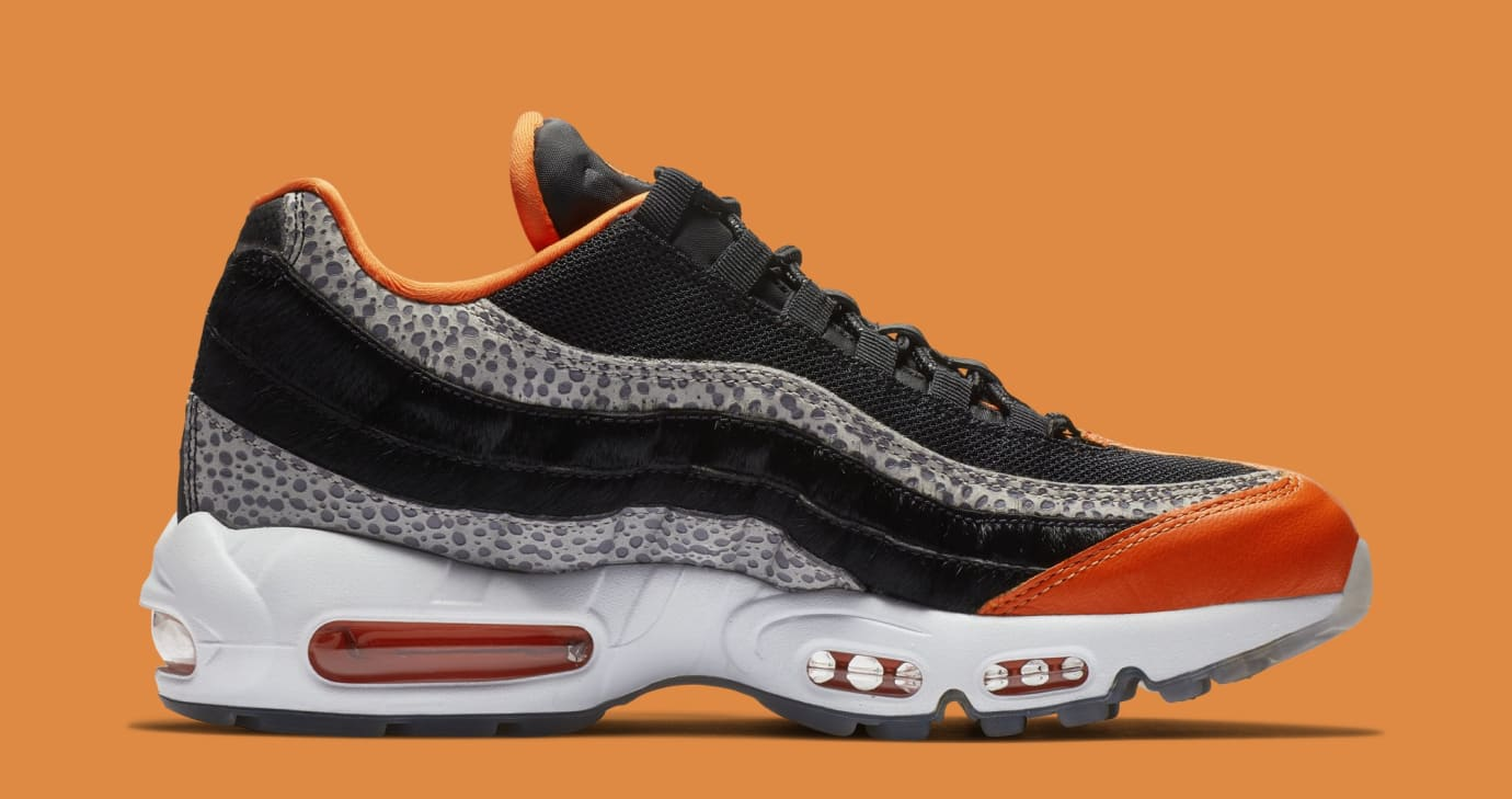 meilleures baskets 5ccd3 47ba4 Nike Air Max 95 'Safari' Black/Granite/Safety Orange AV7014 ...