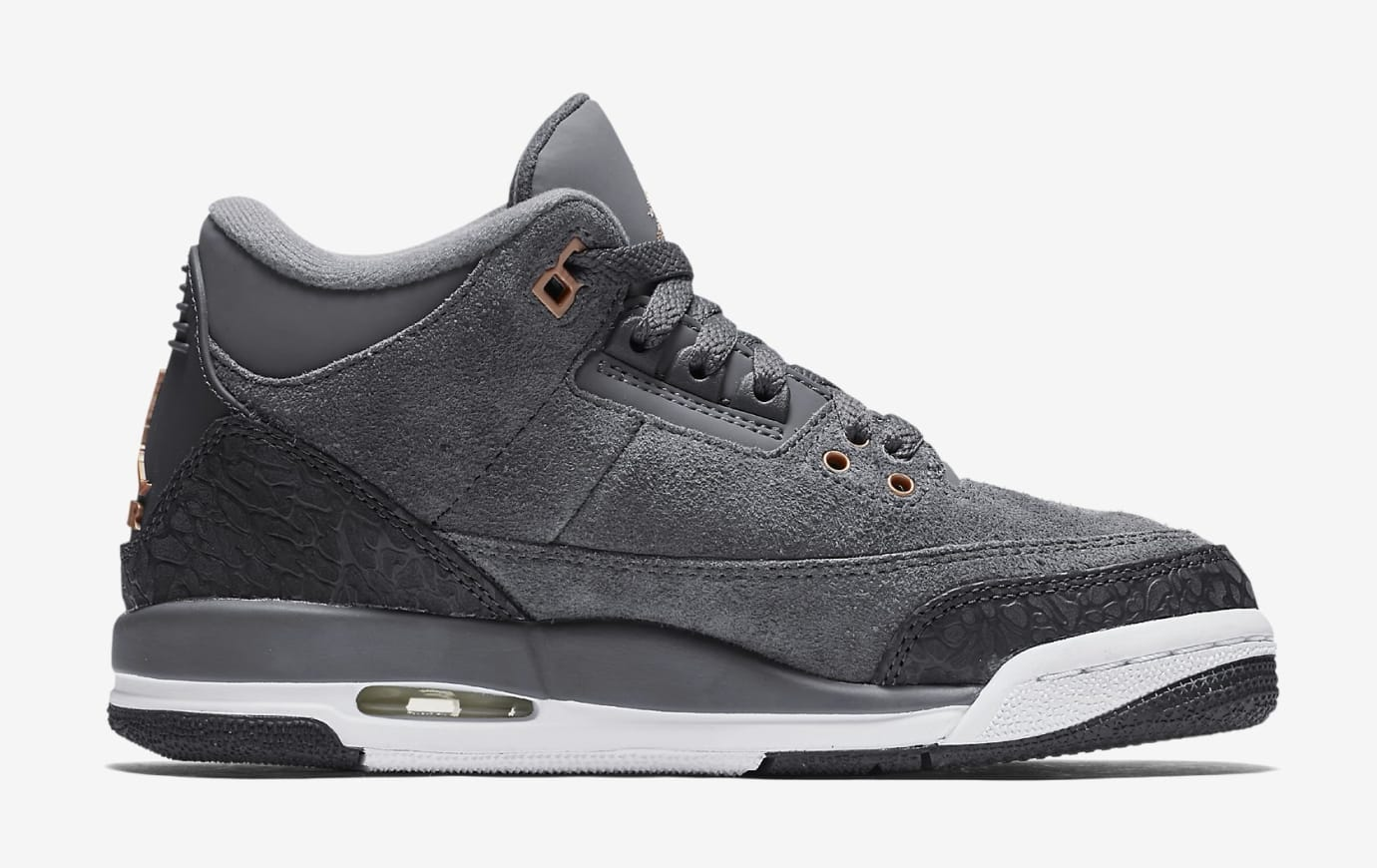 'Anthracite' Air Jordan 3 GG 441140-035 (Lateral)