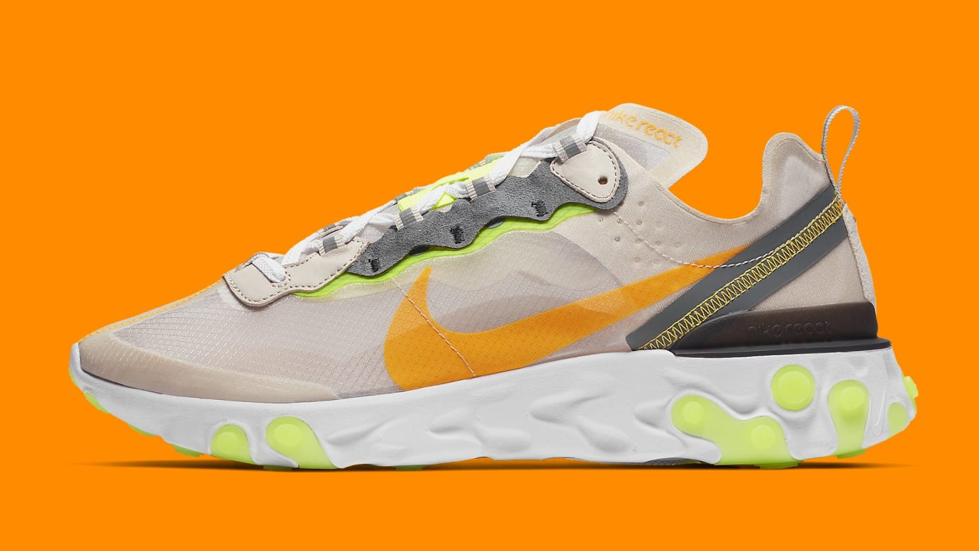 Nike React Element 87 Orange Yellow Release Date