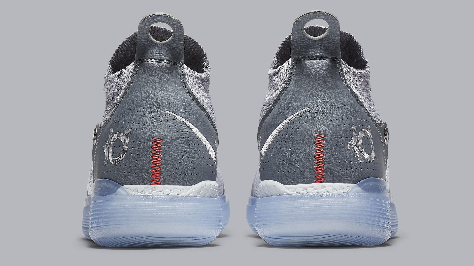 Nike KD 11 Cool Grey Release Date AO2605-002 Heel