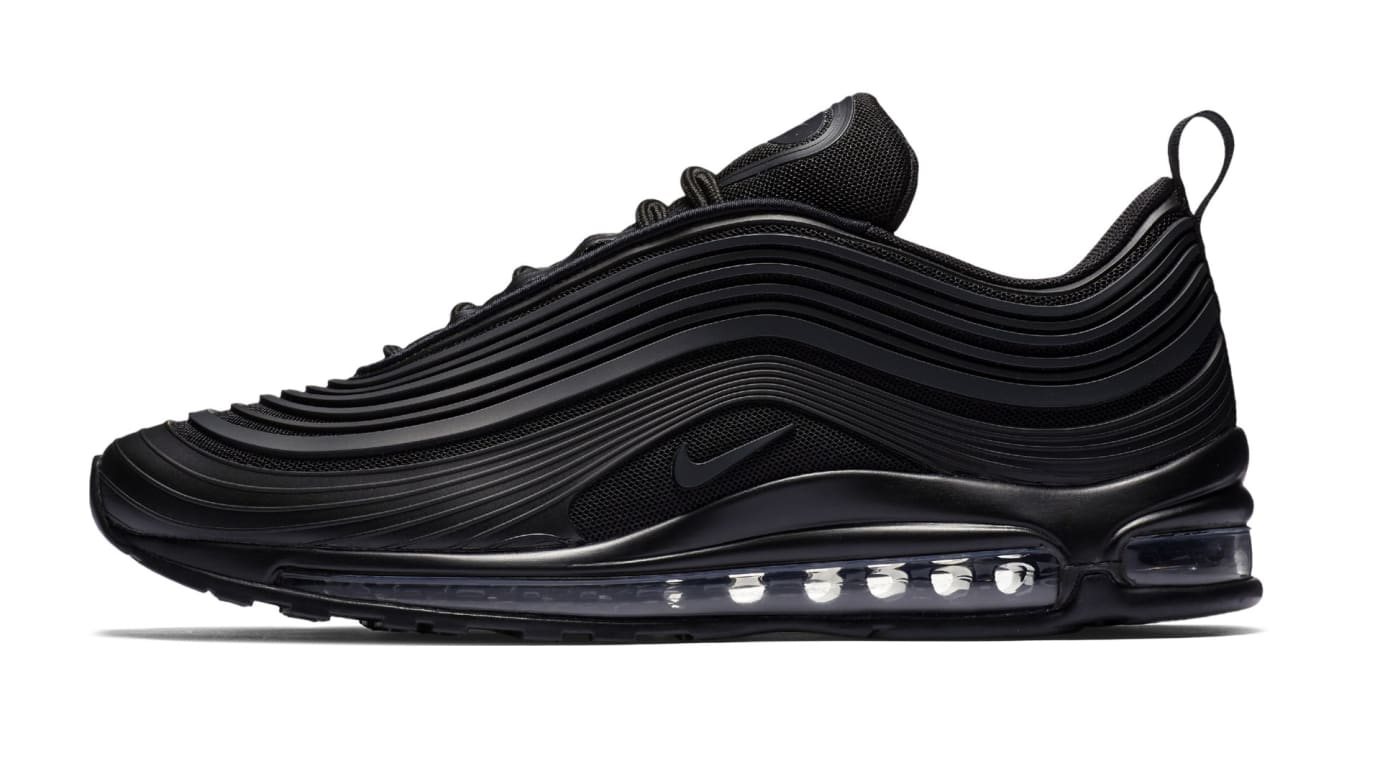 Nike Air Max 97 Ultra 'Triple Black' New Pattern (Lateral)