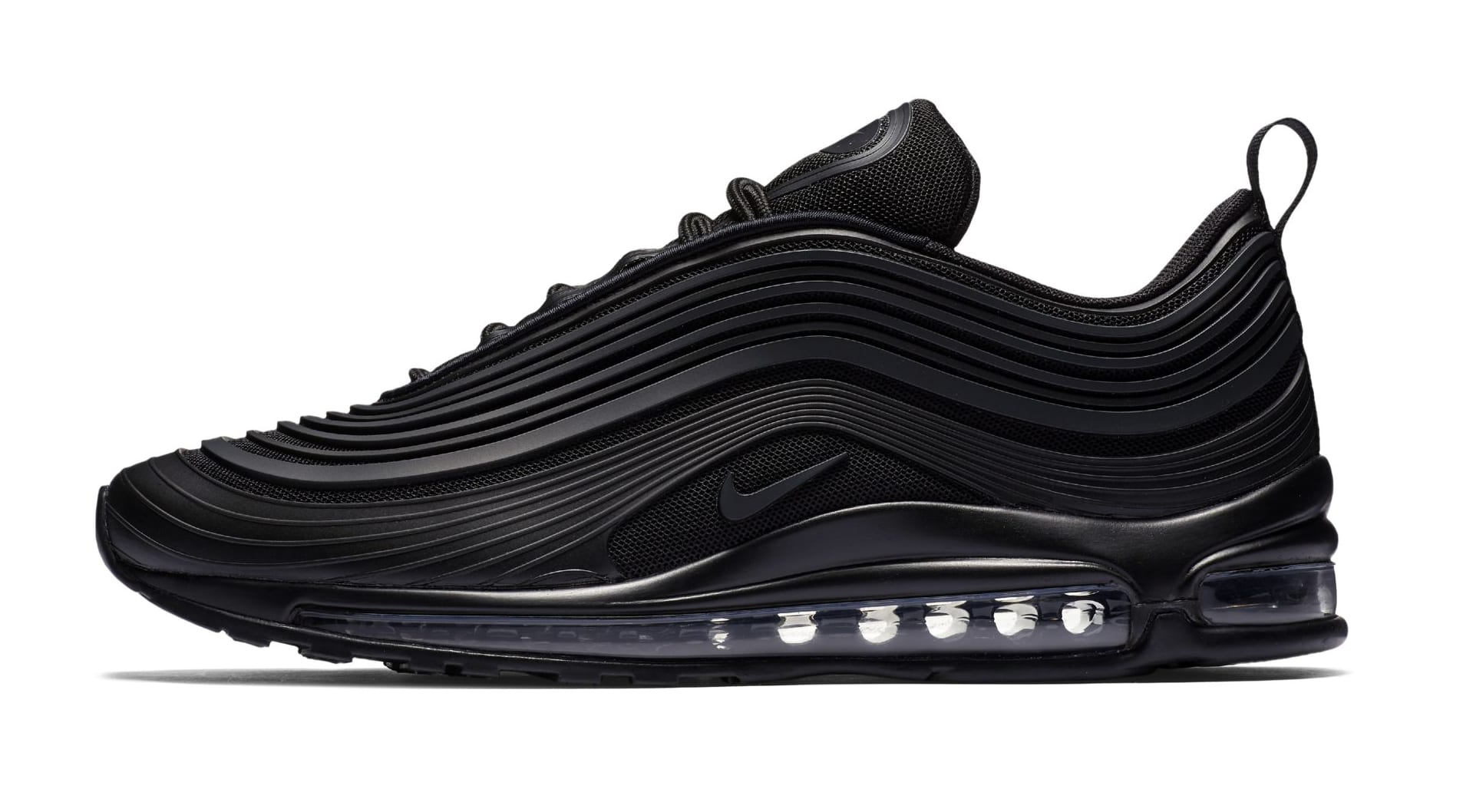 nike air max 97 ultra 39 triple black 39 new pattern sole. Black Bedroom Furniture Sets. Home Design Ideas