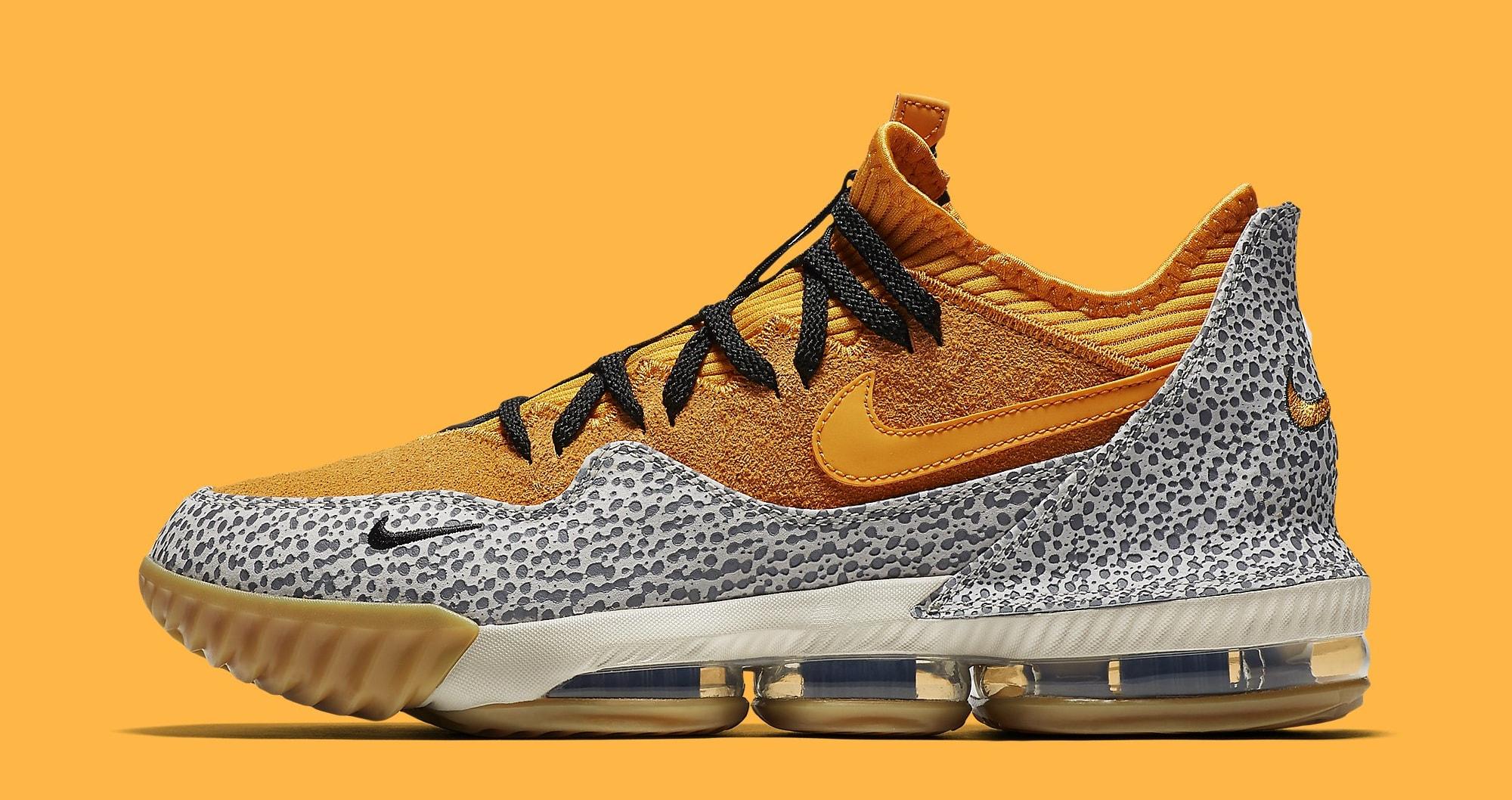 Nike LeBron 16 Low 'Safari' Release Date CI3358 800   Sole