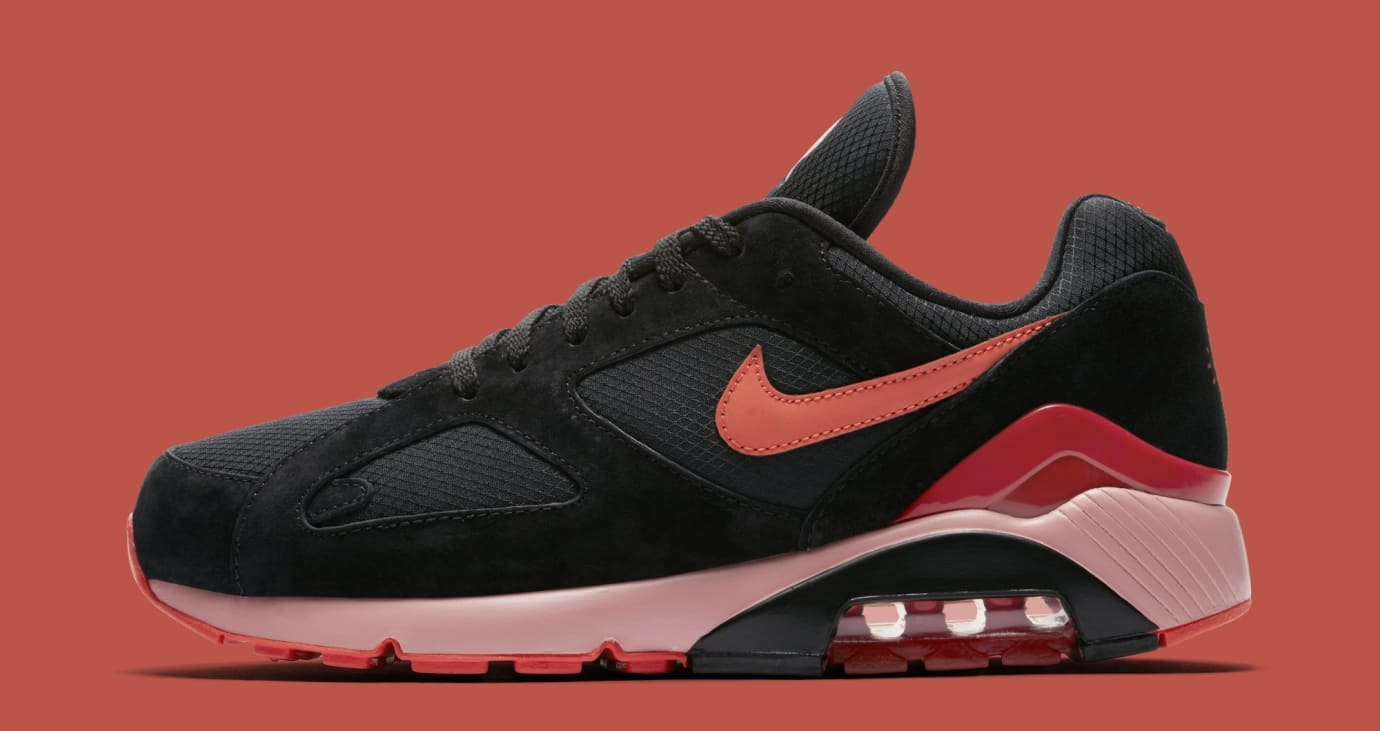 Nike Air Max 180 'Black/Team Orange/University Red' AV3734-001 (Lateral)