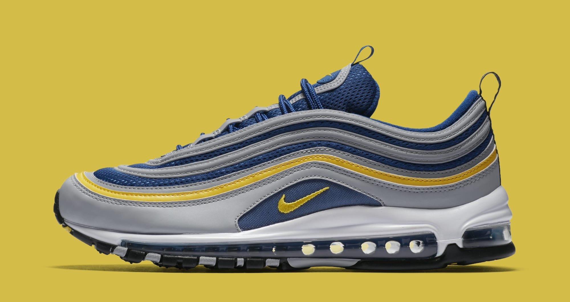 Nike Air Max 97 'Wolf Grey/Tour Yellow/Gym Blue' 921826-006 (Lateral)