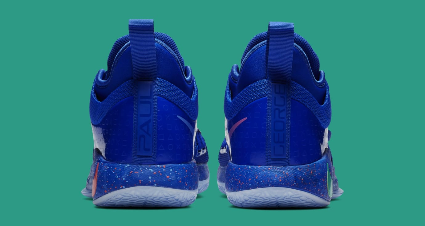 Playstation x Nike PG 2.5 'Blue/Multi-Color' BQ8388-900 (Heel)