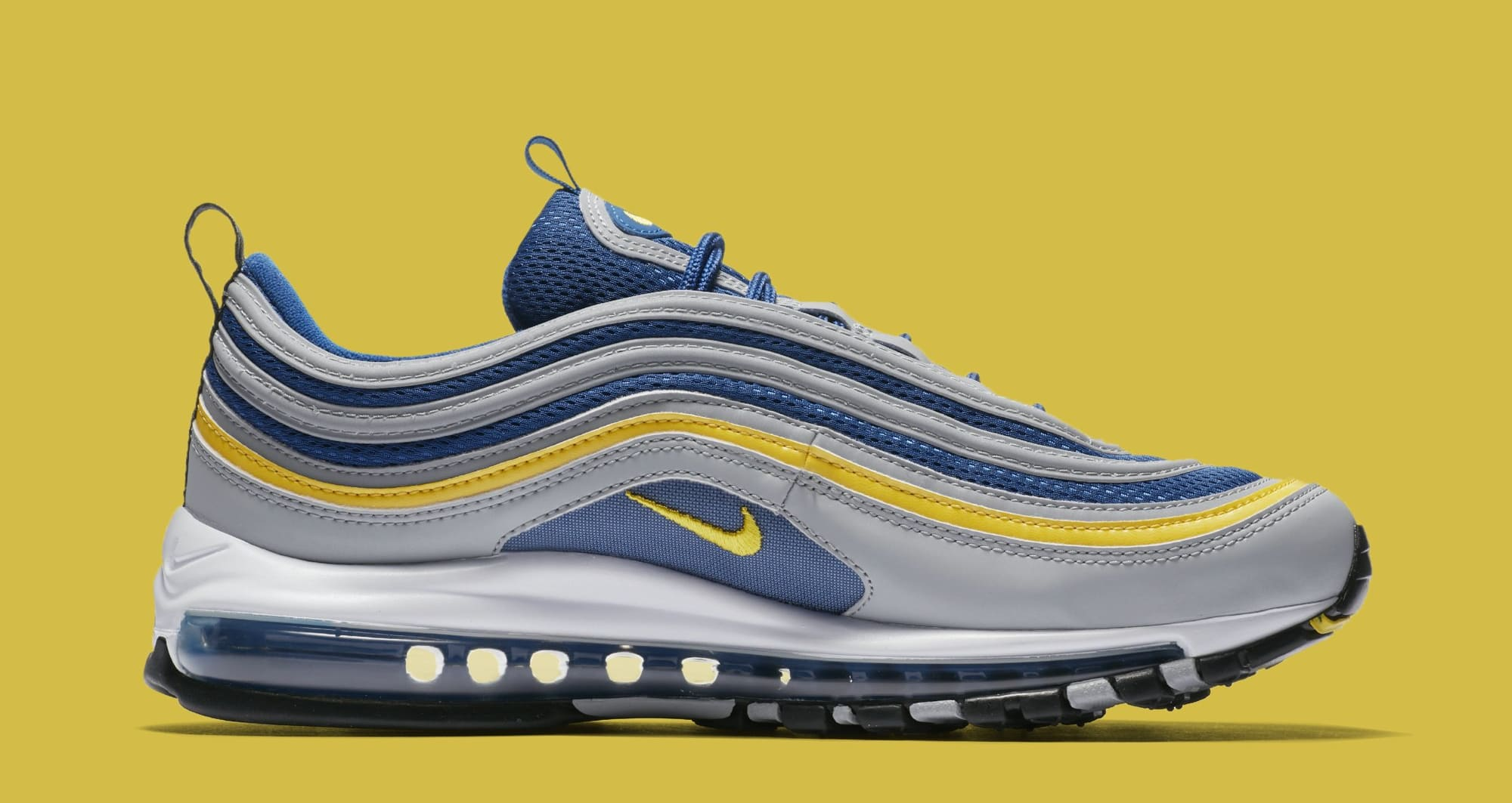 Nike Air Max 97 'Wolf Grey/Tour Yellow/Gym Blue' 921826-006 (Medial)