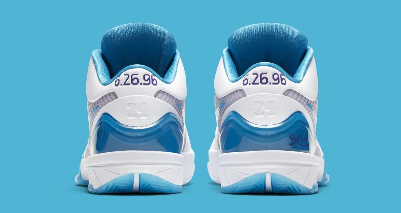 the best attitude e6593 f7e42 Image via Nike Nike Kobe 4 Protro  White Orion Blue-Varsity Purple   AV6339-100