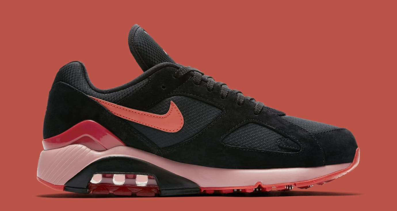 Nike Air Max 180 'Black/Team Orange/University Red' AV3734-001 (Medial)