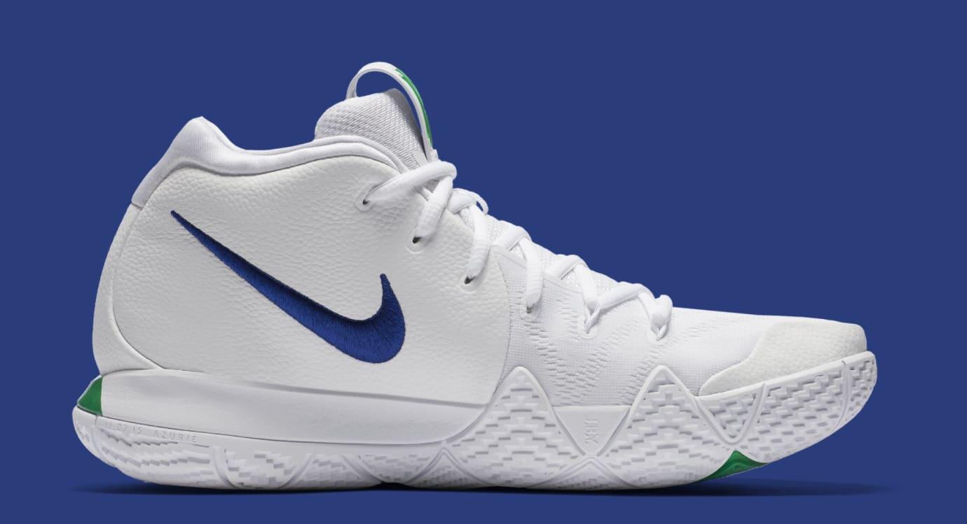 half off d150d fe5b0 Nike Kyrie 4 White Deep Royal Blue Release Date 943806-103 ...