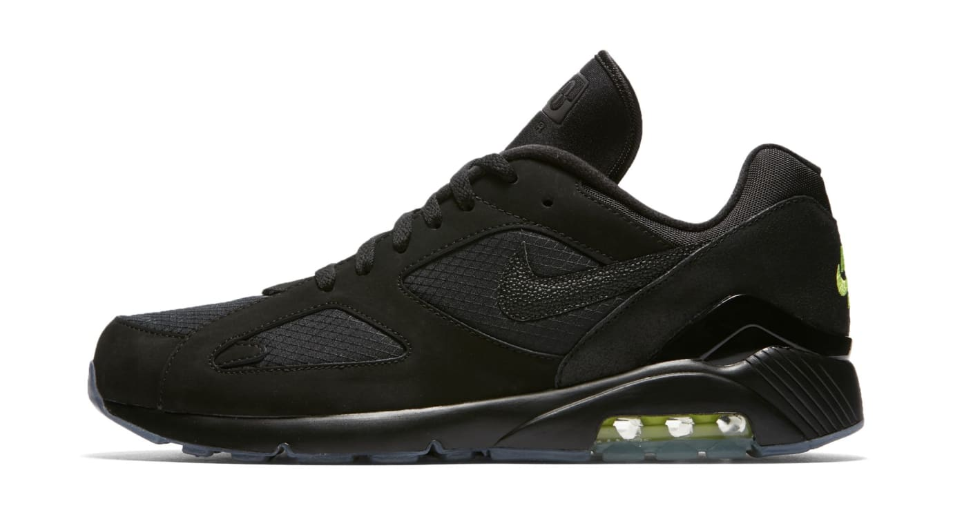 check out 11cc0 cf1bc Nike Air Max 180 BlackBlack-Volt (Lateral)